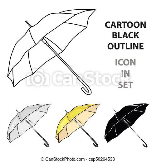 style, golf, illustration., icône, club, symbole, isolé, arrière-plan., vecteur, blanc, parasol, dessin animé, stockage - csp50264533