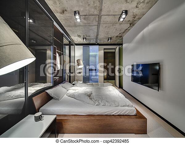 style, grenier, chambre à coucher