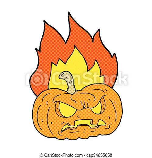 Style Halloween Livre Comique Dessin Anime Citrouille