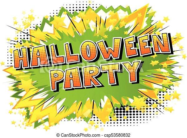 Style Halloween Word Livre Fete Comique