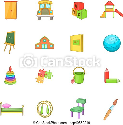 style ic nes ensemble jardin enfants s curit dessin clipart vectoris recherchez. Black Bedroom Furniture Sets. Home Design Ideas