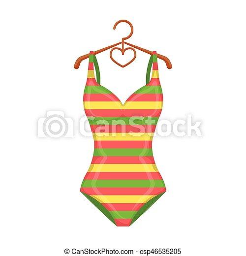 Toile style illustration symbole clair maillot de bain couleurs vecteur - Dessin de maillot de bain ...