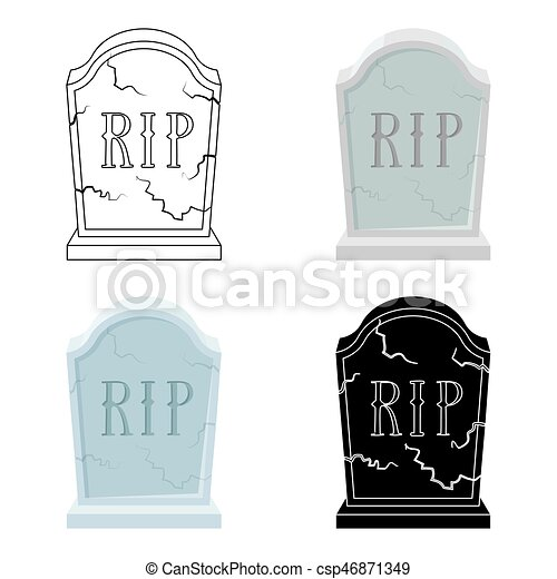 Style isol arri re plan blanc pierre tombale dessin anim ic ne c r monie illustration - Pierre tombale dessin ...