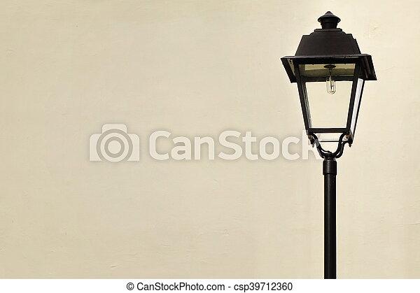 style, jardin, lampe, victorien, rue, poste, ou - csp39712360