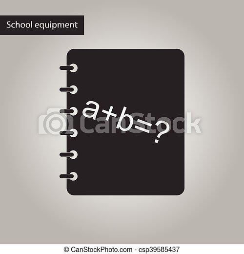 Style Livre Noir Blanc Math Icone