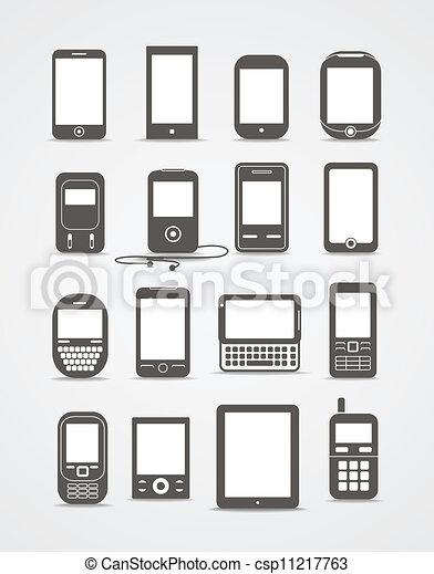 style, mobile, vendange, résumé, moderne, gadgets - csp11217763