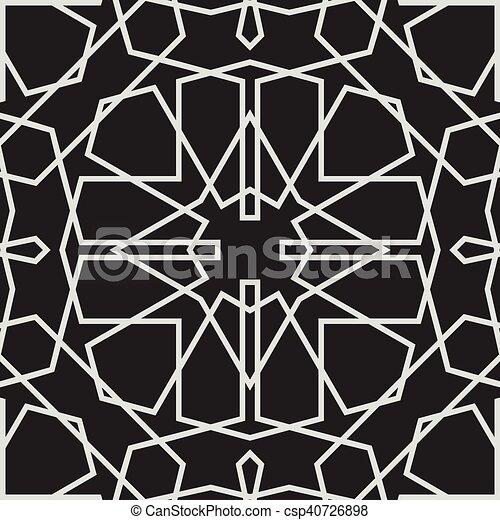 style, modèle, seamless, islamique, vecteur, fond - csp40726898