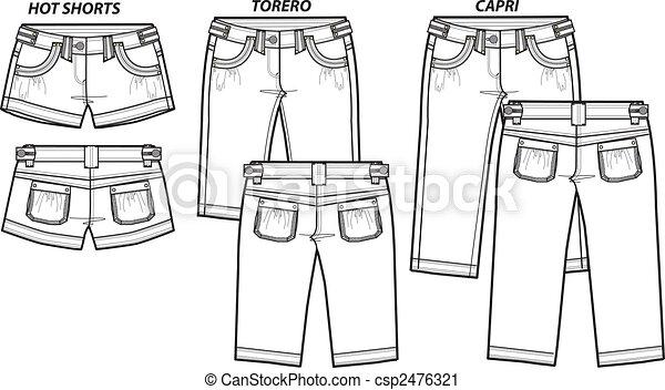 style, mode, dame, 3, short - csp2476321
