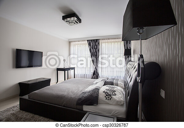 style, moderne, chambre à coucher