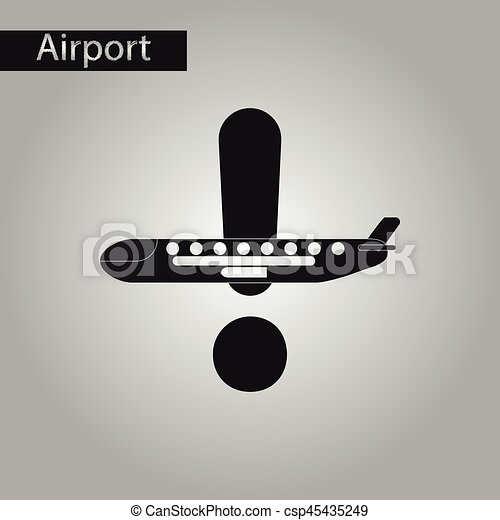 Style noir blanc avion ic ne vecteur eps rechercher - Dessin avion stylise ...