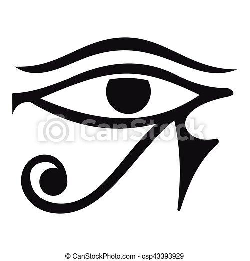Style, Oeil, Horus, Egypte, Simple, Icône, Divinité Vecteur