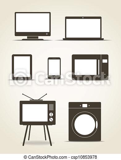 style, résumé, moderne, gadgets, technics, cuisine - csp10853978