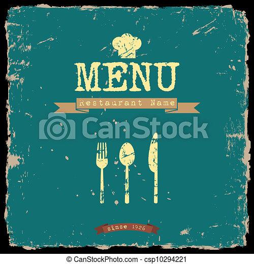 style, restaurant, menu., vecteur, conception, retro - csp10294221
