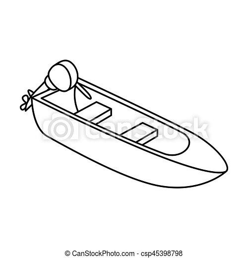 bateau a moteur dessin