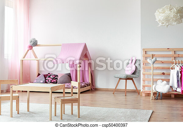 Style Scandinave Filles Chambre A Coucher