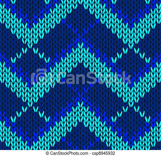 Style seamless blue color pattern - csp8945932