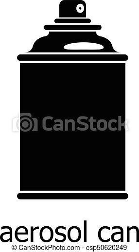 style, simple, boîte aérosol, icône, noir - csp50620249