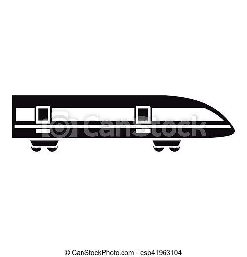 Style Simple Moderne Eleve Train Icone Vitesse Toile