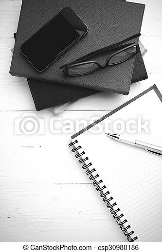 Style Tonalite Couleur Bloc Notes Livre Noir Blanc Pile