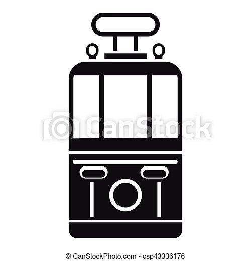 Style Tram Simple Devant Icône Vue