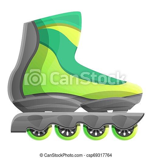 style, vert, patins, icône, inline, dessin animé - csp69317764