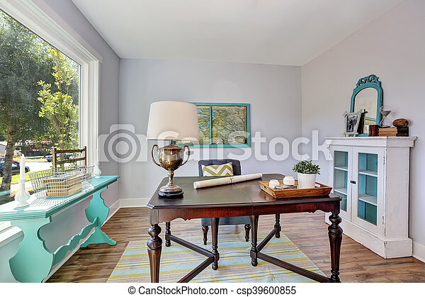 Style vieux bureau bois vendange bureau interior. chambre