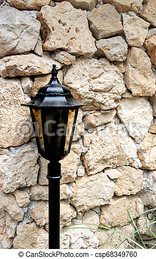 style, vieux, jardin, steampunk, lampe, victorien, poste - csp68349760