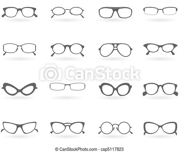styles, différent, lunettes - csp5117823