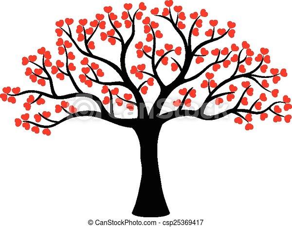 stylis arbre fait amour dessin anim fait amour arbre illustration stylis vecteur. Black Bedroom Furniture Sets. Home Design Ideas