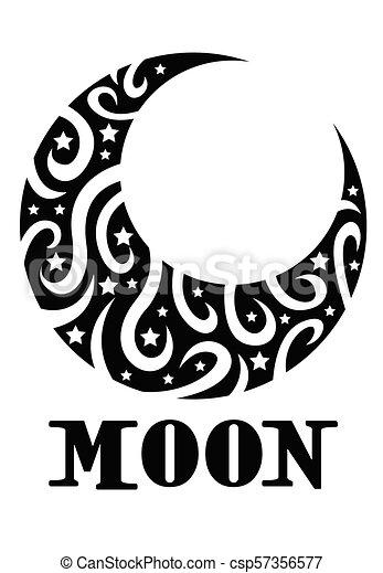 Stylise Croissant De Lune Minuscule Croissant Etoiles Lune