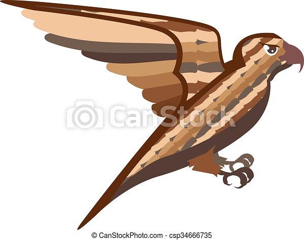 Stylisé, décoratif, oiseau. on