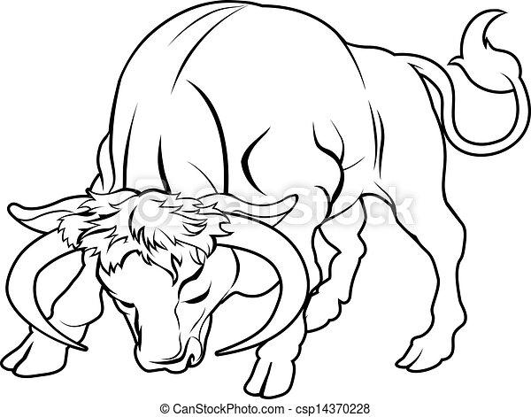 Stylis illustration taureau tatouage perhaps - Dessin de toro ...