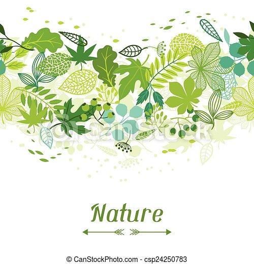 stylisé, modèle, vert, leaves. - csp24250783