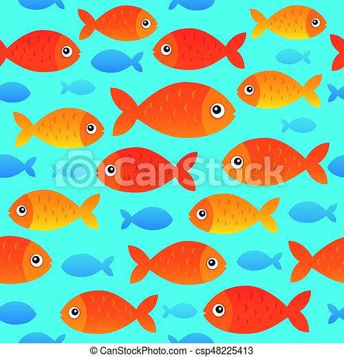 stylisé, poissons, 2, seamless, fond - csp48225413