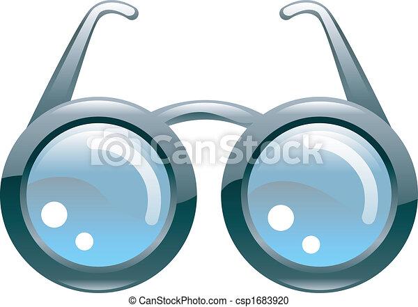 stylised, bril, glanzend - csp1683920