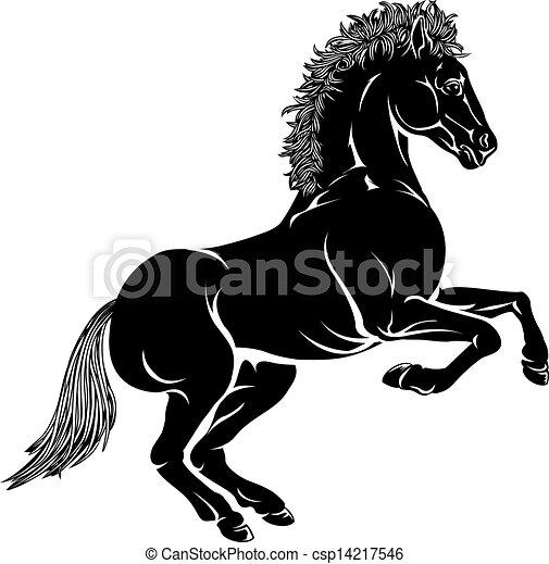 Stylised horse illustration - csp14217546