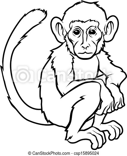 47d874867 Stylised monkey illustration. An illustration of a stylised monkey ...