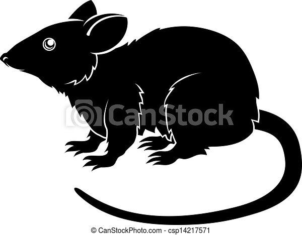 Stylised rat illustration - csp14217571