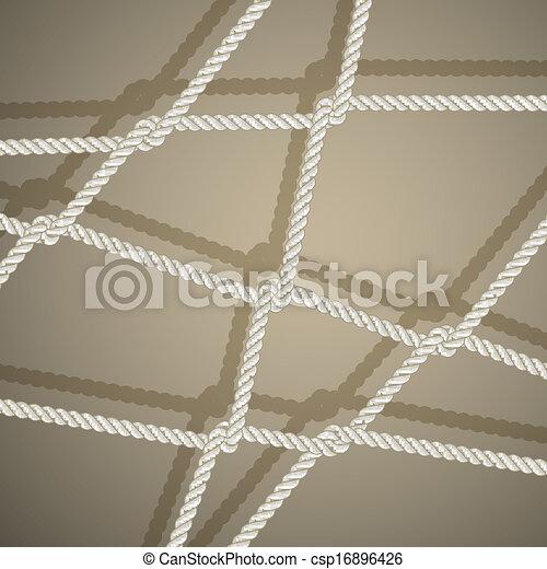 Stylish background with rope. - csp16896426