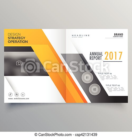 Stylish Bifold Booklet Template Design Cover Page Layout Vectors