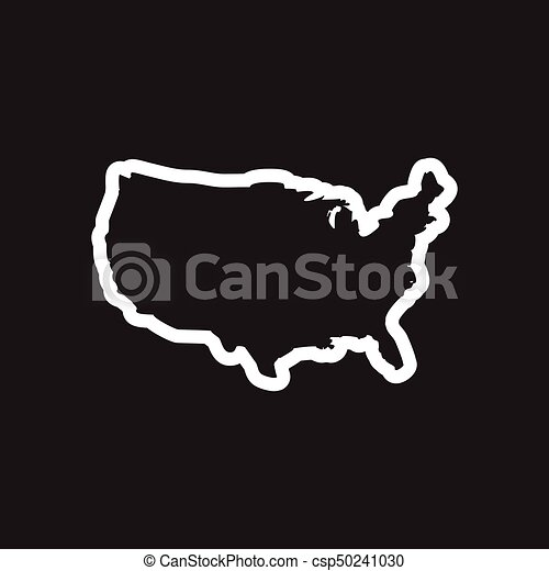 stylish black and white icon map of USA on gold map of usa, fallout map of usa, legend map of usa, clickable map of usa, editable map of usa, label map of usa, diocese map of usa, fire map of usa, doomsday map of usa, inset map of usa, illuminati map of usa,