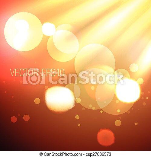 stylish bokeh lights background - csp27686573