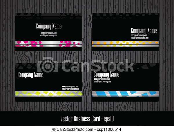 stylish business card template - csp11006514