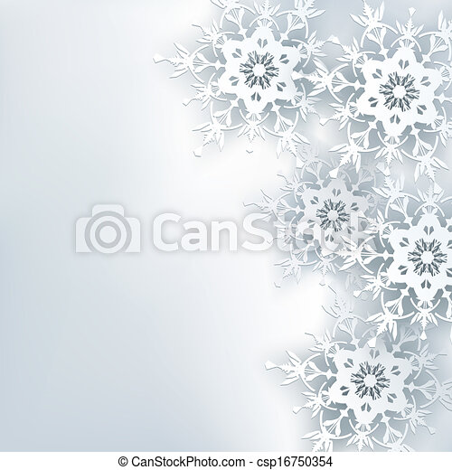 Stylish creative abstract background, 3d snowflake - csp16750354
