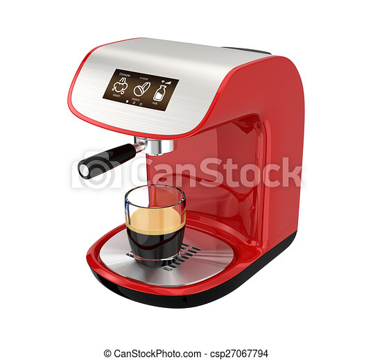 Stylish espresso coffee machine - csp27067794
