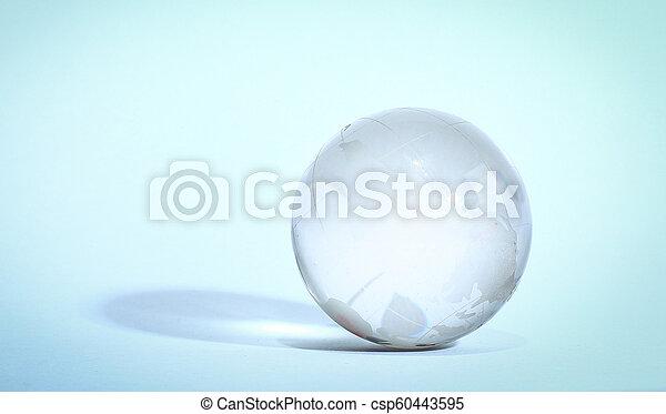 stylish glass globe. isolated on a white background - csp60443595
