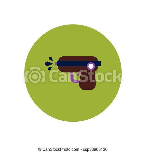 stylish icon in color circle water gun - csp38985136