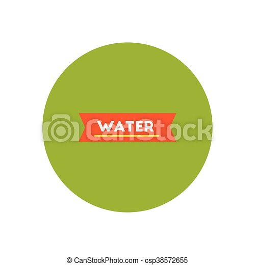 stylish icon in color circle water text - csp38572655