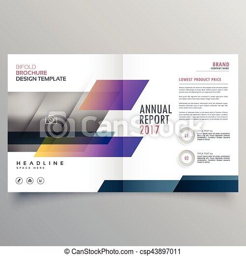 Stylish Magazine Booklet Brochure Design Promotional Vector Clip