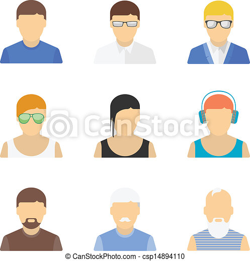 Stylish male character set - csp14894110